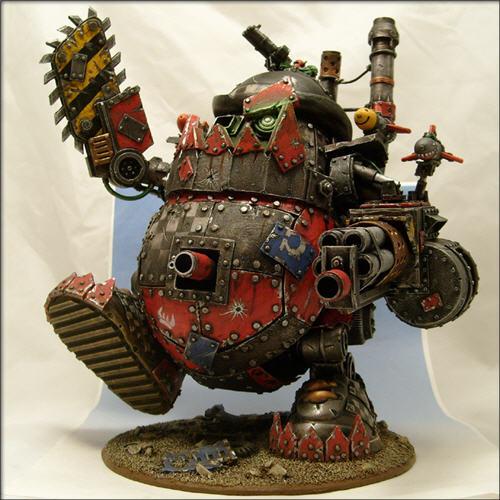 [WIP] Apizonadora Orka rechoncheta y pequeña pero matona (base de apizonadora nuevo). Warhammer_40k_potato_head