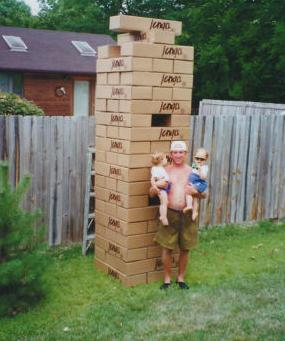 Man Asks $28,000 for 9 Foot Jenga by Purple Pawn