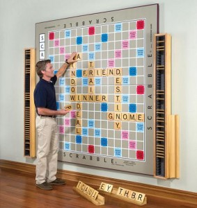 Wall Scrabble Purple Pawn
