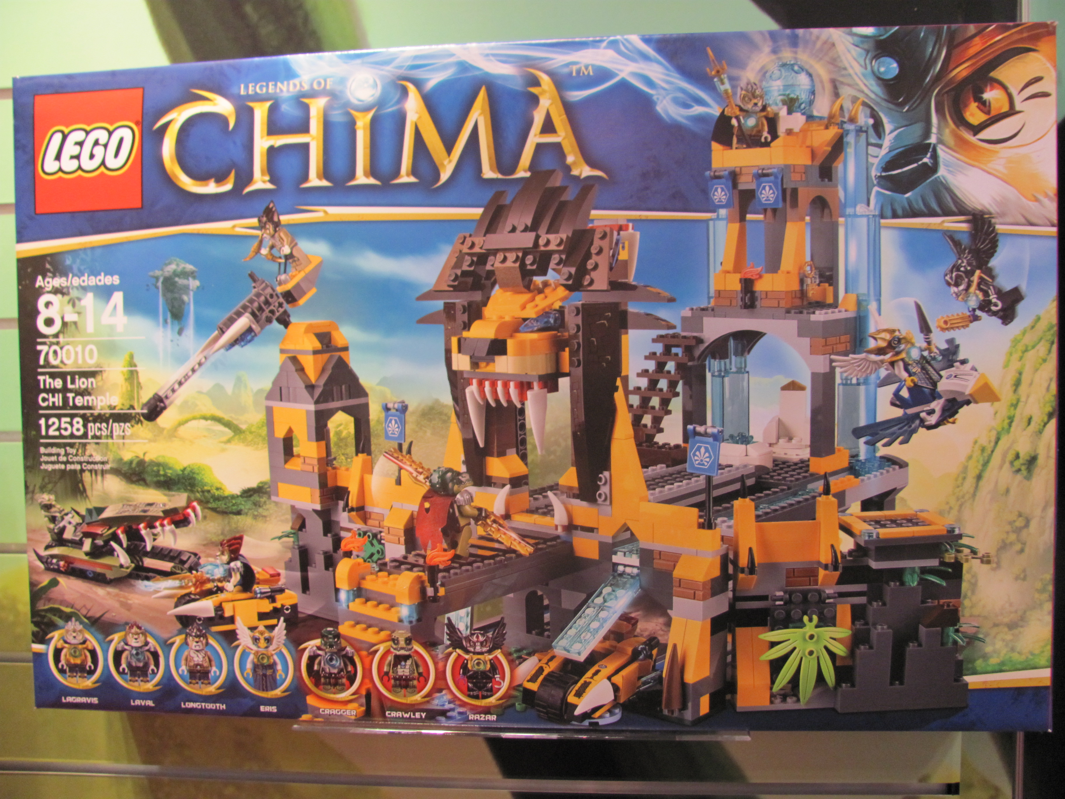 LEGO Legends of Chima The Lion CHI Temple Box