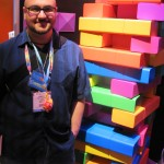 Rob with Giant Tetris Jenga