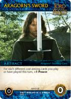 Aragorns Sword Card