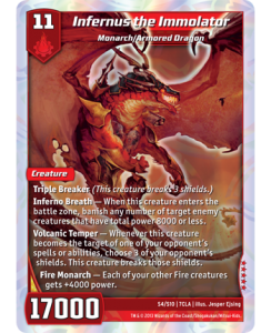 Kaijudo Infernus the Immolator