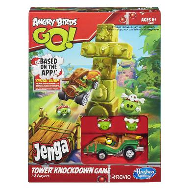 Angry Birds Go Jenga Tower Knockdown Game