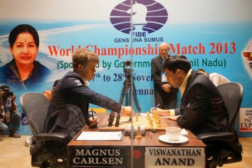 FWCM 2013 Anand and Carlsen