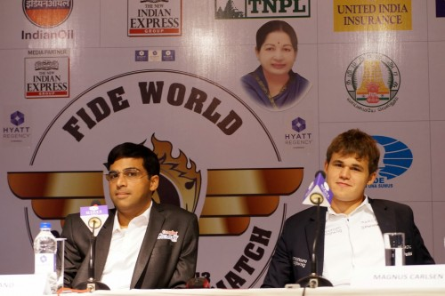 FWCM 2013 Anand and Carlsen Game 7 Press Conference