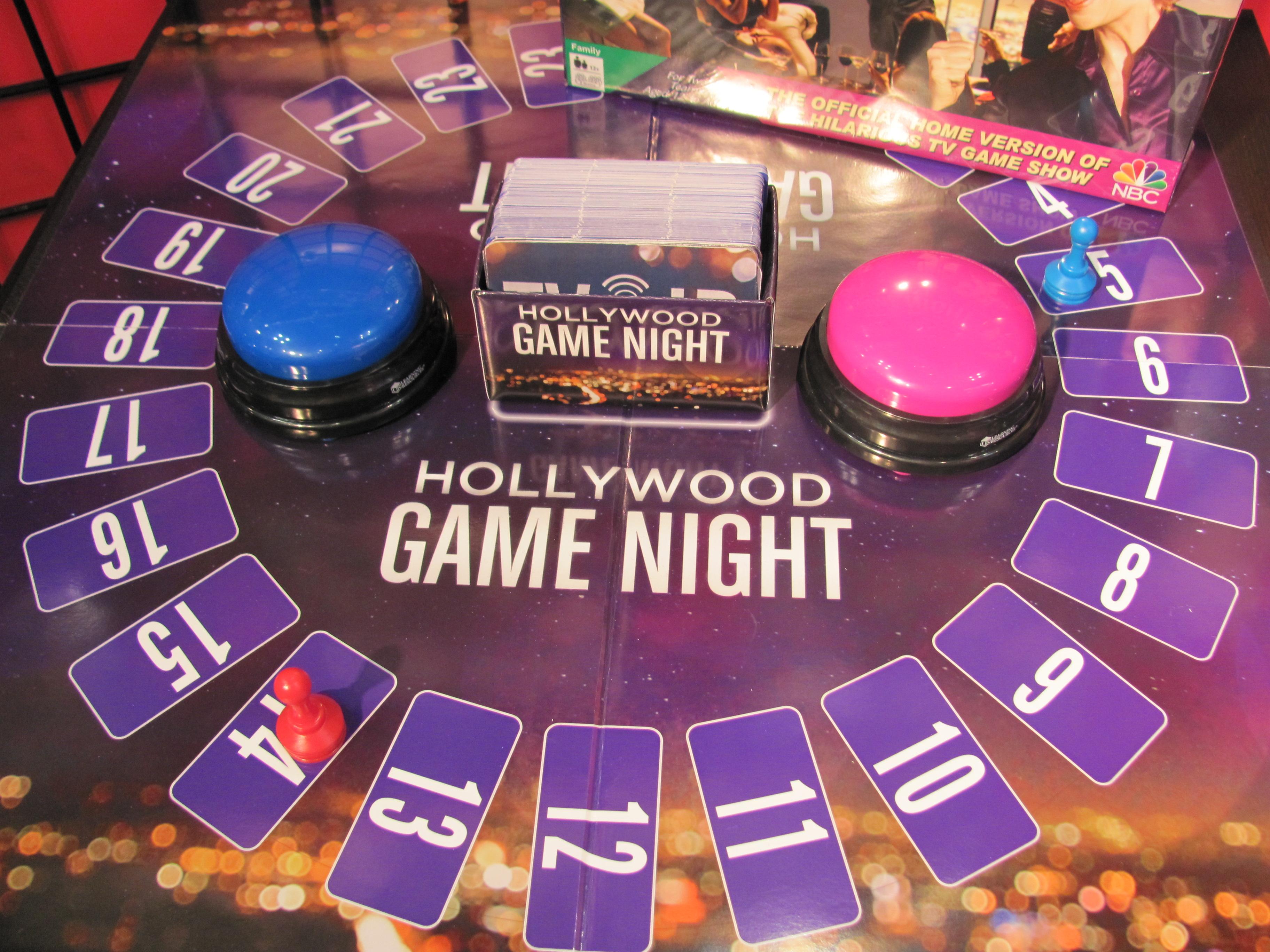 Board Game Night Logo Hollywood Game Night Board