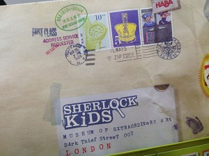 Sherlock Kids' clue envelope.