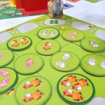 Counting Fun: double-sided animal tokens and the farmer.