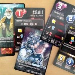 Action cards, Leader cards, and a Technology card, all mixed up.