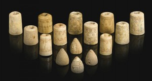 Ivory Stone and Bone Persian or Egyptian Game Pieces
