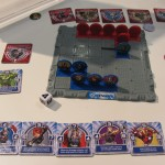 Marvel Avengers Slide Strike Battle Game Closeup Board