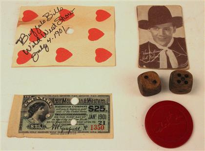 Buffalo Bill Wild West Show Dice and Card