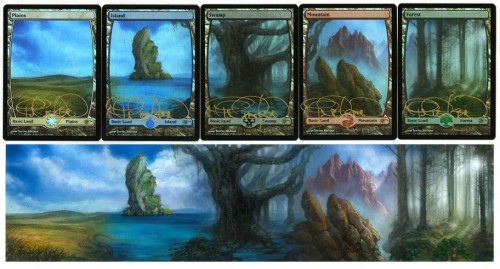 MtG Foil Full Art Land Cards