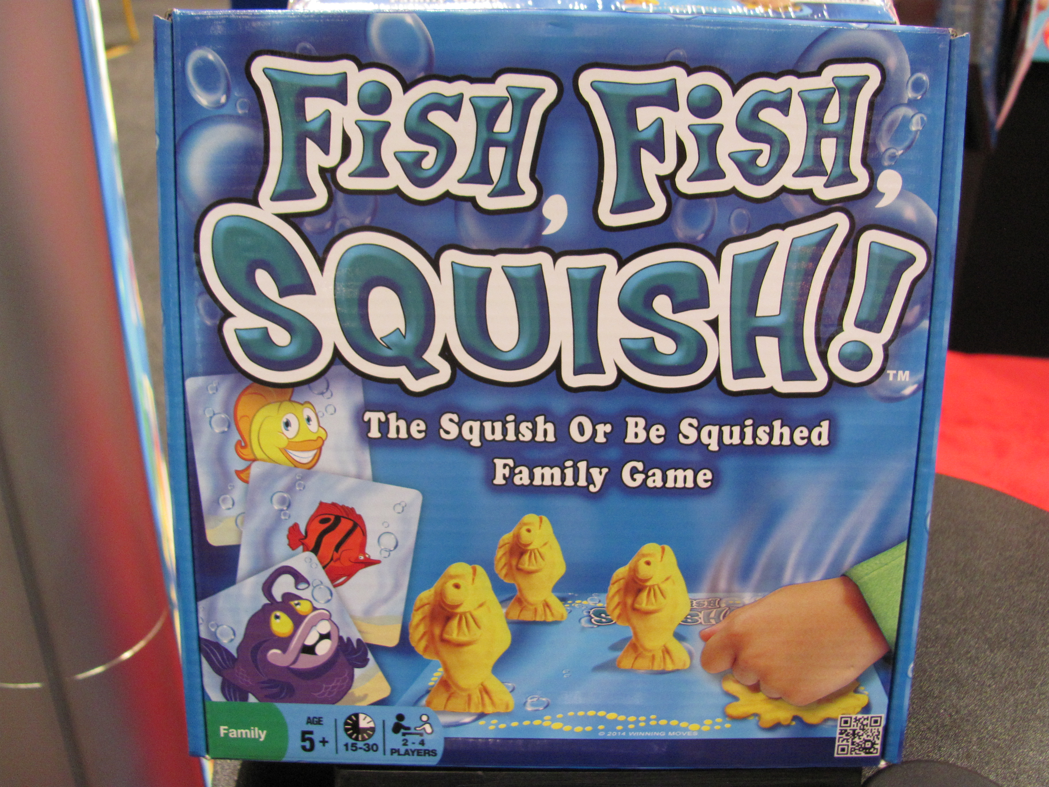 Toy fair 2015 winning moves purple pawn for Squish the fish