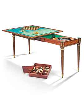 French Parquetry Game Table
