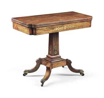 Regency game table