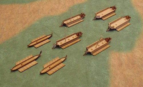 Capitan Games Trireme Ship Figures