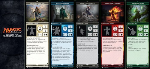 MTG Arena of the Planeswalkers game - Planeswalkers cards