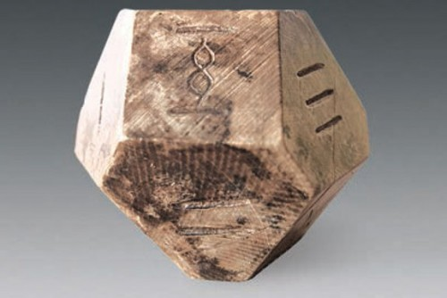 Ancient Chinese 14 Sided Die