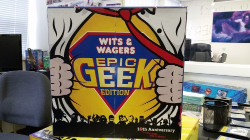 Mockup Box for Wits & Wagers Epic Geek Edition