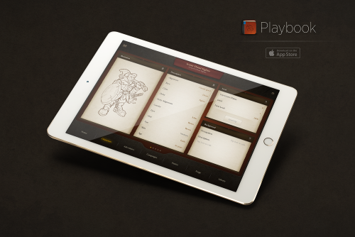 Playbook mockup