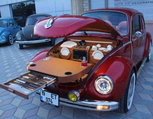 Zorlu VW Beetle Backgammon