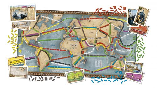 Ticket to Ride Rails & Sails The World Map